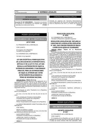 PERÚ Ley de Contrataciones del Estado - Comercio.es