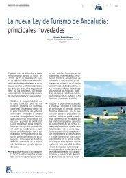 La nueva Ley de Turismo de Andalucía: principales ... - HispaColex