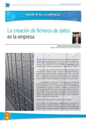 La creación de ficheros de datos en la empresa - HispaColex