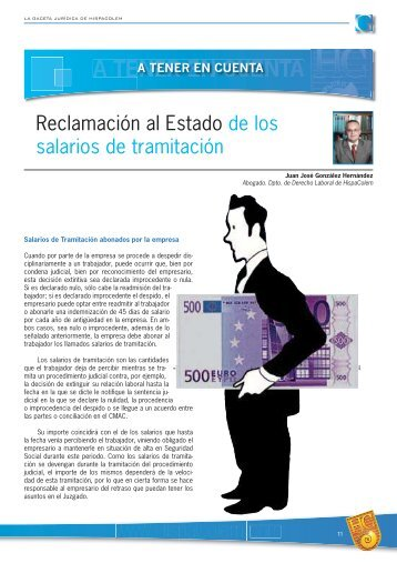 Reclamación al Estado de los salarios de tramitación - HispaColex
