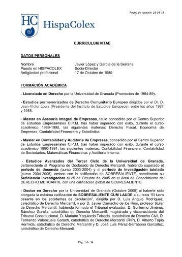 DATOS PERSONALES - HispaColex