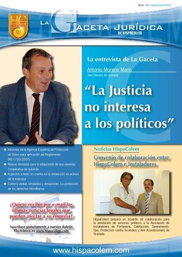 """""""La Justicia no interesa a los políticos"""" - HispaColex"""
