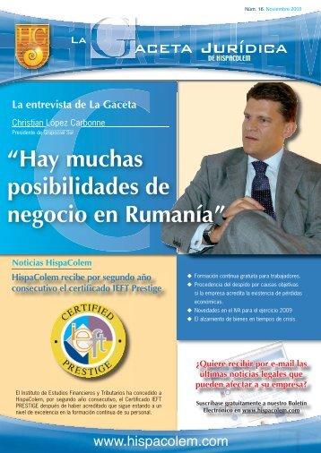 LA GACETA JURIDICA 16.indd - HispaColex