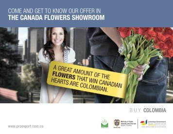 THE CANADA FLOWERS SHOWROOM - Proexport Colombia