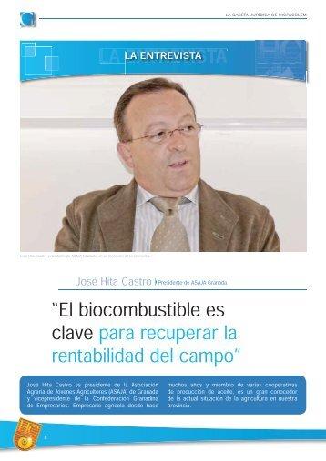 """""""El biocombustible es clave para recuperar la ... - HispaColex"""