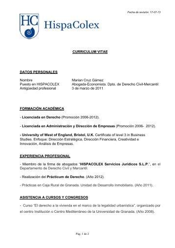 Currículum - HispaColex