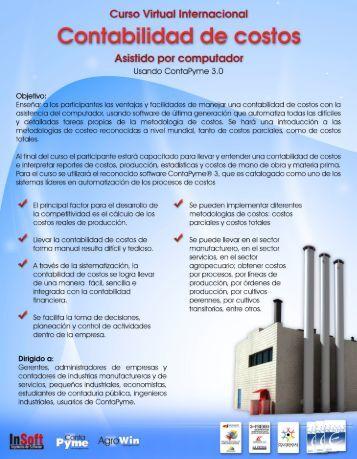 Curso de contabilidad de costos - InSoft Ltda.