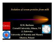 Isolation of serum proteins from milk - InnovateWithDairy.com