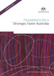 Foundations for a Stronger, Fairer Australia - RDA Sydney