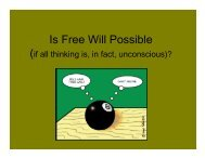 Is Free Will Possible