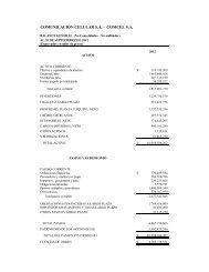 COMUNICACIÓN CELULAR S.A. - COMCEL S.A.