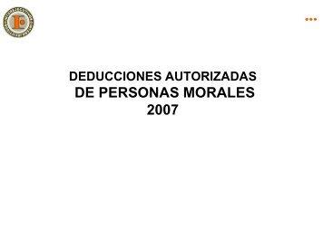 DEDUCCIONES - Interejecutivos