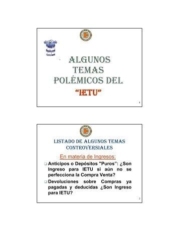 ALGUNOS TEMAS POLÉMICOS DEL POLÉMICOS ... - Interejecutivos