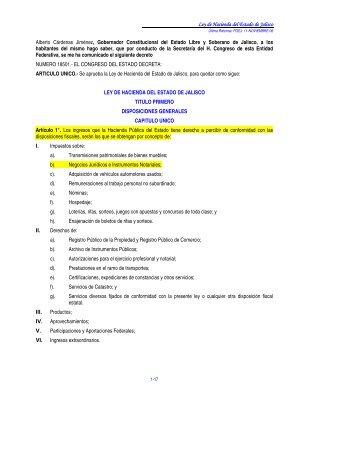 113-Ley de Hacienda Jalisco.pdf - Interejecutivos