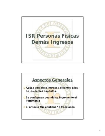 190-ISR PERSONAS FISICAS DEMAS INGRESOS - Interejecutivos