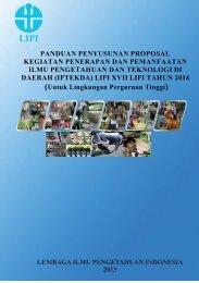 Panduan Proposal IPTEKDA LIPI 2014