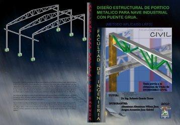 diseño de portico para nave industrial con puente grua