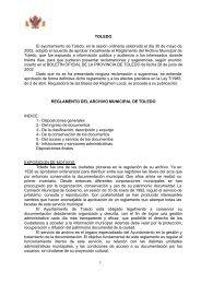 Reglamento del Archivo Municipal de Toledo - Ayuntamiento de ...