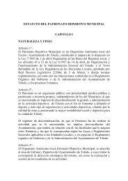 Estatuto del Patronato Deportivo Municipal - Ayuntamiento de Toledo
