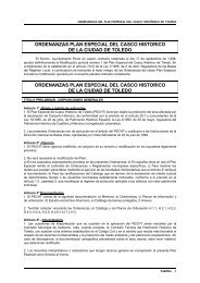 ordenanzas plan especial del casco historico de la ciudad de toledo