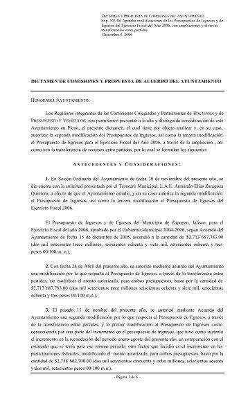 D- Exp-501-06 Tercera modificación al Presupuesto de Egres…