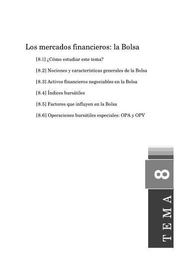 Los mercados financieros: la Bolsa - UNIR