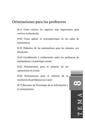 Orientaciones para los profesores