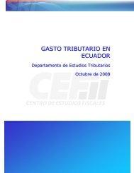 GASTO TRIBUTARIO EN ECUADOR - Estimaciones Tributarias