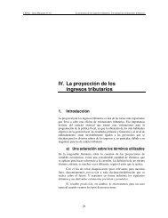IV. La proyección de los ingresos tributarios - Estimaciones Tributarias