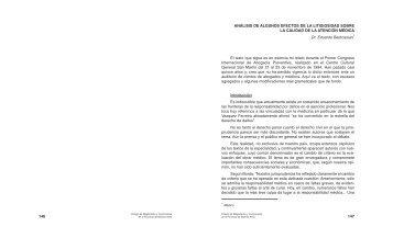 146 147 ANÁLISIS DE ALGUNOS EFECTOS DE LA LITIGIOSIDAD ...