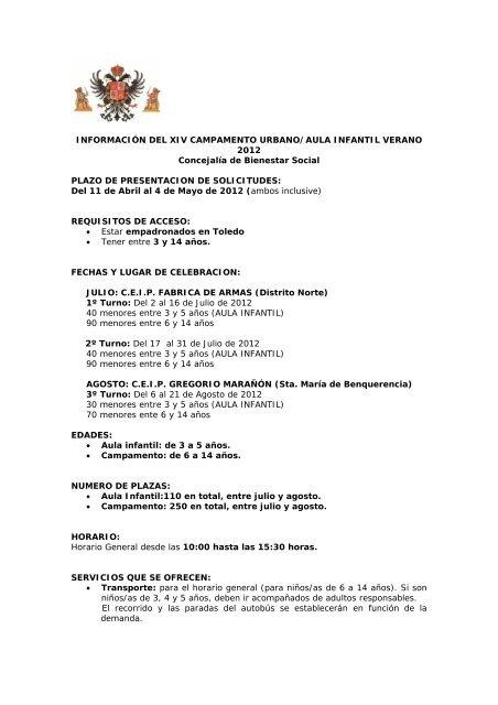 Información General - Ayuntamiento de Toledo