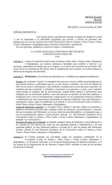 Comité Provincial Contra la Tortura y Otros Tratos o Penas Crueles ...