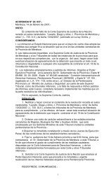 ACORDADA N° 20. 037. - Poder Judicial de Mendoza