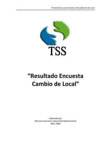 Resultado Encuesta Cambio de Local - TSS