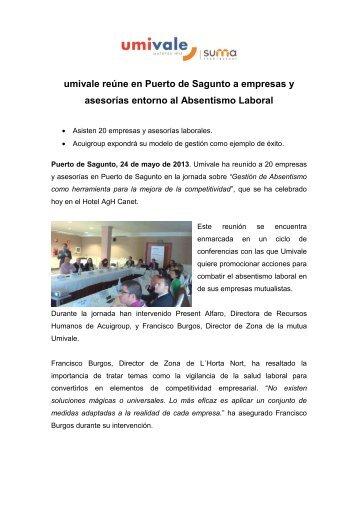 umivale reúne en Puerto de Sagunto a empresas y asesorías ...