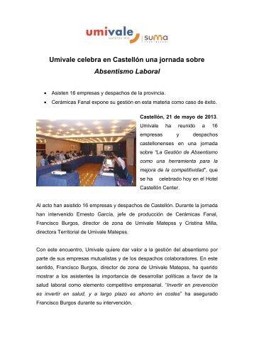 Umivale celebra en Castellón una jornada sobre Absentismo Laboral