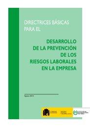 directrices básicas para el desarrollo de la prevención ... - Infocentre