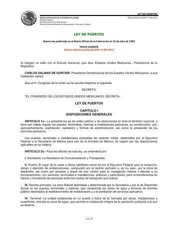 Ley de Puertos - Secretaría de Marina