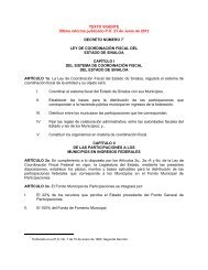 Ley de Coordinación Fiscal del Estado de Sinaloa - Servicios de ...