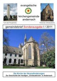 Die Geschichte der Christuskirche - ev-kirche-andernach.de