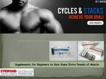 Supplements for Beginners to Gain Some Extra Pounds of Muscle