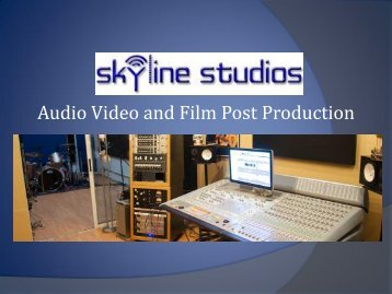 Audio Video and Film Post Production