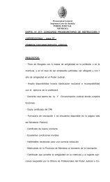 Bases del concurso - Ministerio Público