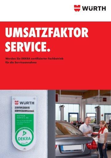 Umsatzfaktor Service