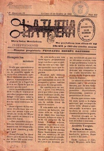 La Tijera del 15 de Octubre de 1924