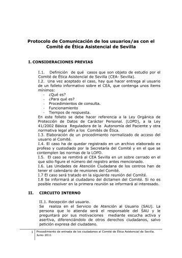 procedimiento de consulta de la ciudadania al cea sevilla
