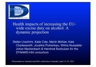 Health impacts of increasing the EU- wide excise duty on alcohol: A ...