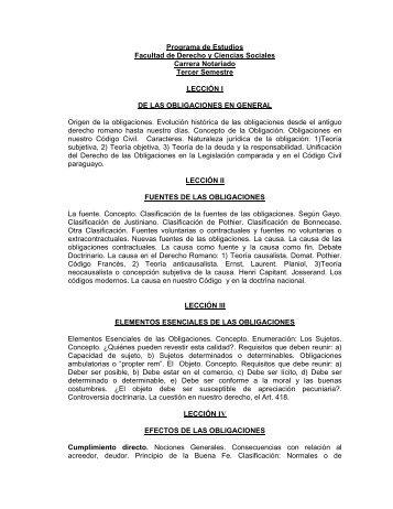 Derecho Civil I (Obligaciones en General) - Facultad de Derecho