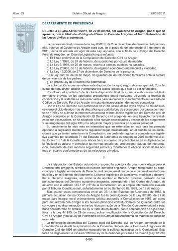 Decreto Legislativo 1/2011 - Boletín Oficial de Aragón - Gobierno de ...