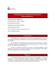 """""""Coaching para Orientación Profesional y Emprendimiento"""" - FCJS"""